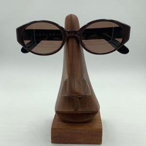 Vintage Ralph Lauren Brown Oval Sunglasses Frames